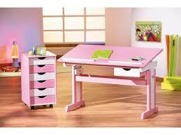 bureau pour enfants pour enfant design blanc et avec plateau relevable sissi
