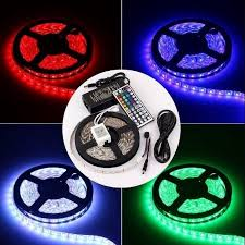 color changing led strip lights with remote balsacircle 16 feet long 300 color changing rgb led strip lights