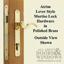 French Door Latch Options - atrium door lock replacement hardware set polished brass
