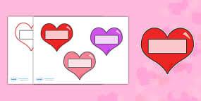 valentine u0027s day editable heart template valentine u0027s day