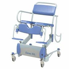 elexo xxl shower toilet chair high low access at home inc
