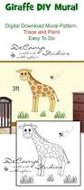 diy barn wall mural printable pattern download paint trace girl diy jungle giraffe wall mural printable pattern trace paint boy