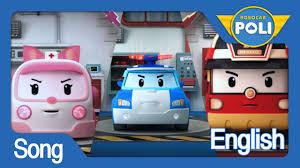 film kartun english robocar poli english theme song youtube