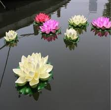 discount silk lotus flower water garden 2017 silk lotus flower