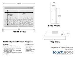 Fireplace Insert Dimensions by Touchstone 80016 Edgeline Electric Fireplace 28
