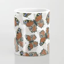 peacock butterfly pattern coffee mug by katerinamitkova society6