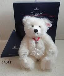 swarovski 2005 steiff teddy with annual ornament new