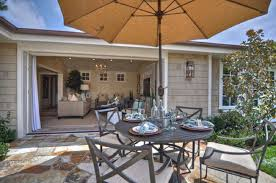 exteriors country patio backyard decor with textured structure