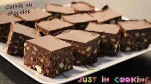 cuisine facile sans four recette de carrés au chocolat sans cuisson