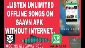 saavn apk saavn pro mod apk listen free unlimited songs offline