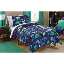Bed Set Walmart Mainstays Kids Dino Roam Bed In A Bag Bedding Set Walmart