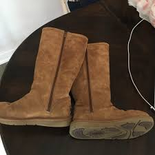 ugg s zip boots 63 ugg shoes ugg side zip boots from lizzie s closet