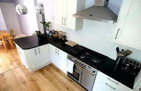 cuisine noir laqué plan de travail bois plan de travail cuisine blanc winsome cuisine noir plan de travail