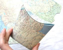 Map Favors by Map Gender Reveal Etsy