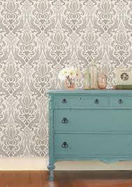 Stick And Peel Wallpaper by Wpxnu1827 Nuwallpaper Grey Nouveau Damask Peel And Stick