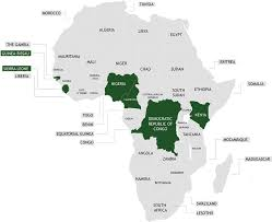 map with names of countries in africa africa by country cholera cdc