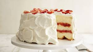 strawberry rhubarb angel cake recipe bettycrocker com