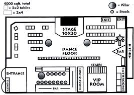 Sample Floor Plan Of A Restaurant Festive Downtown Music Club And Restaurant New York Ny Bar