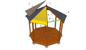 roof plans octagon gazebo plans octagon gazebo construction raised gazebo