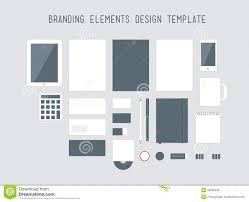 Office Set Design Branding Design Elements Vector Set Royalty Free Stock Images