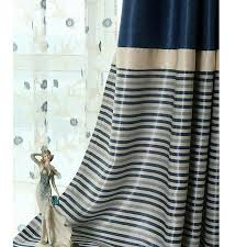 unique insulated beige and navy striped curtains best 25 color