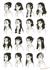 avatar hairstyles air korra lok airbender arrow tattoo mackydraws u2022