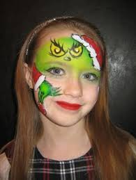 Baby Grinch Halloween Costume Grinch Facepaint Face Painting Grinch Grinch