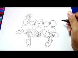 drawing mickey mouse minnie kissing cartoons disney shorts