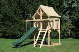 Best Backyard Swing Sets by Small Space Swing Set Idea Build With Sandbox That Covers From