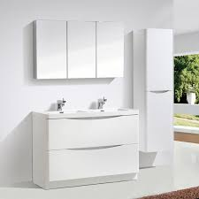 Square Sink Vanity Unit Motiv 1200mm Gloss White Floor Standing Double Basin Vanity Unit