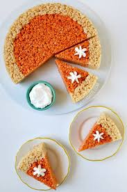 pumpkin pie rice krispies treats thanksgiving recipe diy crafts