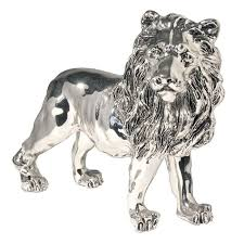 lion figurine silver standing lion of judah figurine