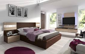 ultra modern bedroom with hanging bed also floral rug and white