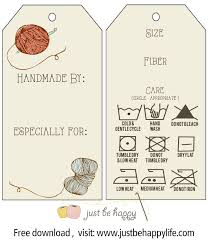 printable care labels for crochet u0026 knitted gifts from just be