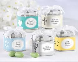 personalized party favors treasures favor tin religious set of 12