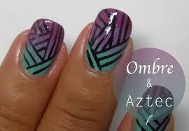 ombre aztec stripes nail art tutorial youtube