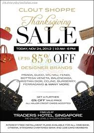 24 november 2012 clout shoppe thanksgiving sale