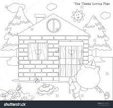 coloring pigs 8 bricks stock vector 601743734
