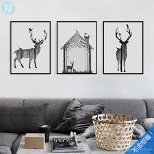 2017 northern european style animals simple forest elk poster