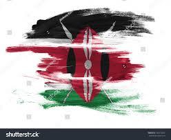 Kenya Flag Clothing Kenya Flag Painted On White Surface Stock Illustration 130273232