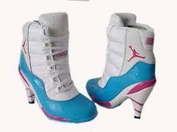 Light Blue High Heels Women Air Jordan High Heels Air Jordan 11 High Heels Boots