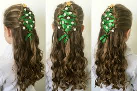 hairstyles for long hair at home videos youtube christmas tree hairstyle tutorial youtube