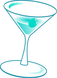 martini olive vector clipart happy hour