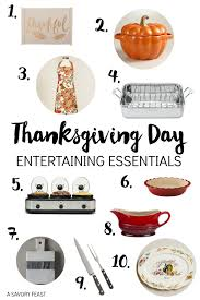 10 Must Essentials For A by Thanksgiving Day Entertaining Essentials