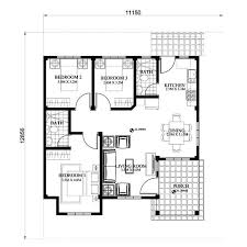 bungalow floorplans modern bungalow house with 3d floor plans and firewall amazing