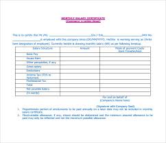7 free salary certificate templates excel pdf formats
