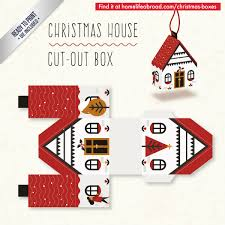 christmas house cut out box with ready to print templates check