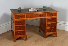 Leather Office Desk Antiques Atlas Georgian Style Yew Wood Green Leather Office Desk