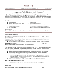 Resume For Logistics Executive Sample Resume Gallery Your Career Forward
