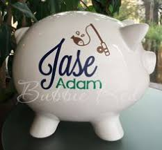 personalized baby piggy banks baptism gift for girl christening gift personalized piggy bank